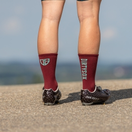 Compress - Bordeaux/Mint - Cycling socks - 17 cm