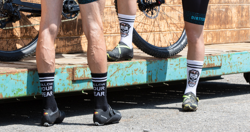 Socks made for trails and freestyle