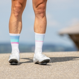 Mix & Match - White/Blue/Mint/Pink - Cycling Socks - 20 cm