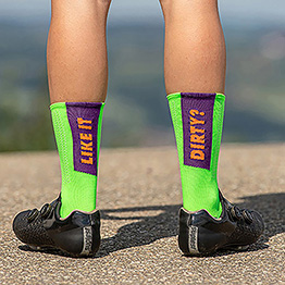 Like it Dirty? - Compress - Cycling Socks - 20 cm